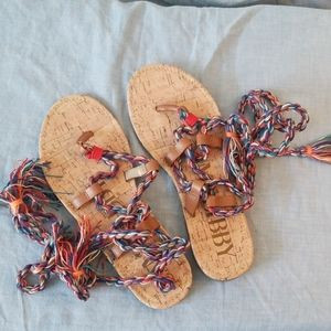 NWOT Sam and Libby Tie Sandals